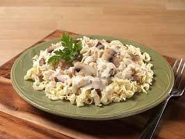 Canned Beef Stroganoff with Noodles