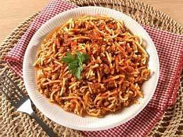 Canned Meal Spaghetti with Meat Sauce