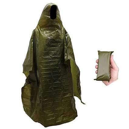 SHTF Military Style Rain Poncho
