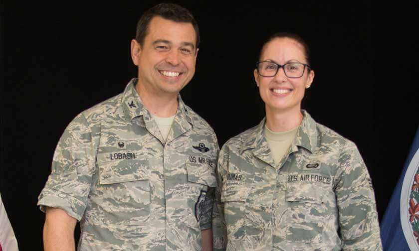 Air Force Man and Woman in Uniform