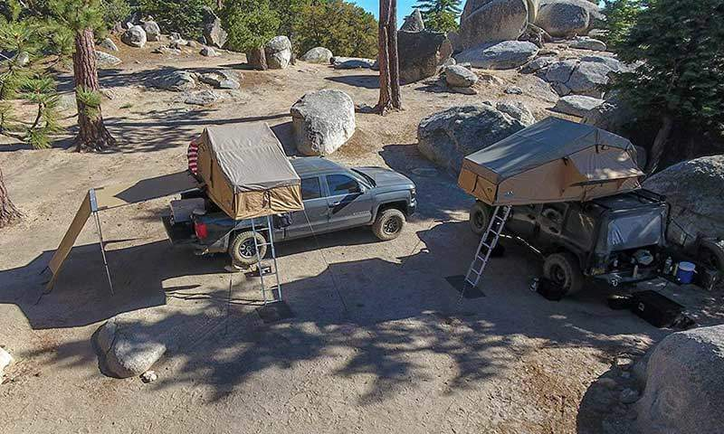 Camping with Truck Tents