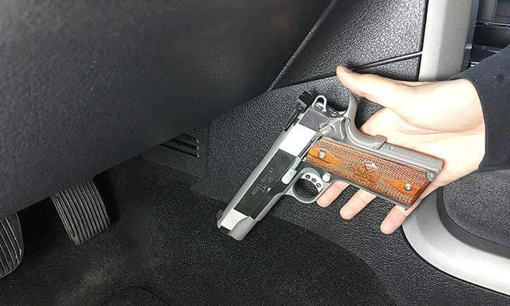 Handy Dandy Magnetic Gun Holster Car