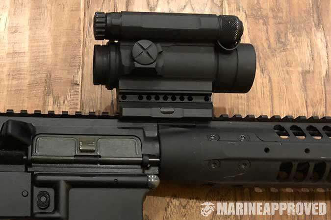 LWRC M6 with Aimpoint Comp M4 Red Dot Optic