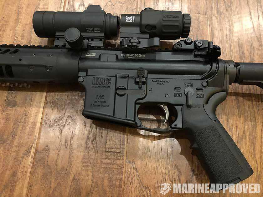 Aimpoint Comp M4 and EOtech G33 Magnifier Setup