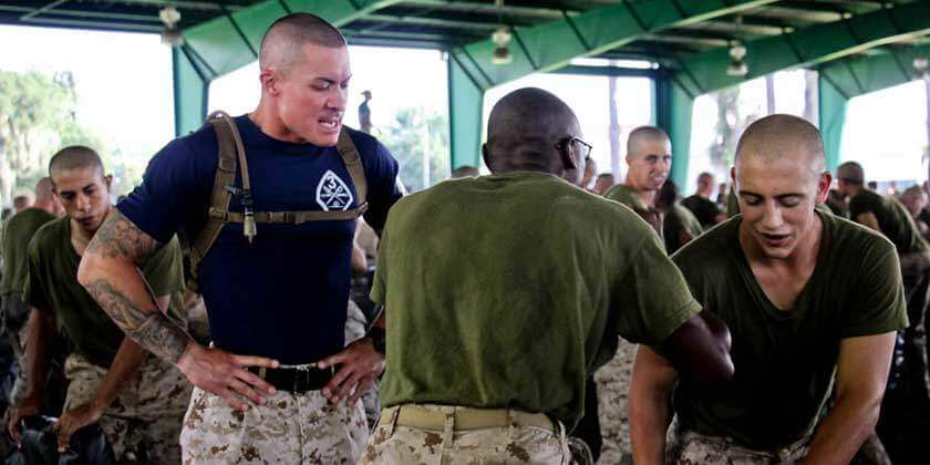 Marine Drill Instructor Training Recruits