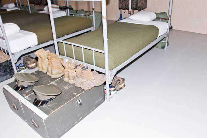 Marine Rack (Bed) at Boot Camp