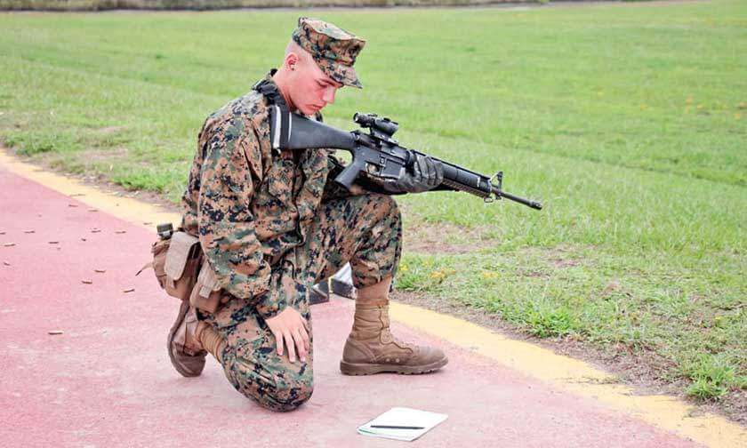 Marine Shooting at Rifle Range