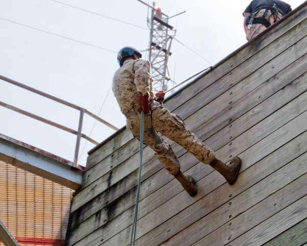 Rappel Tower Marine Corps Basic Training