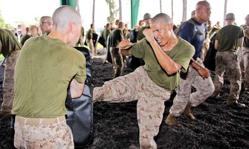 Recruits During MCMAP at USMC Boot Camp