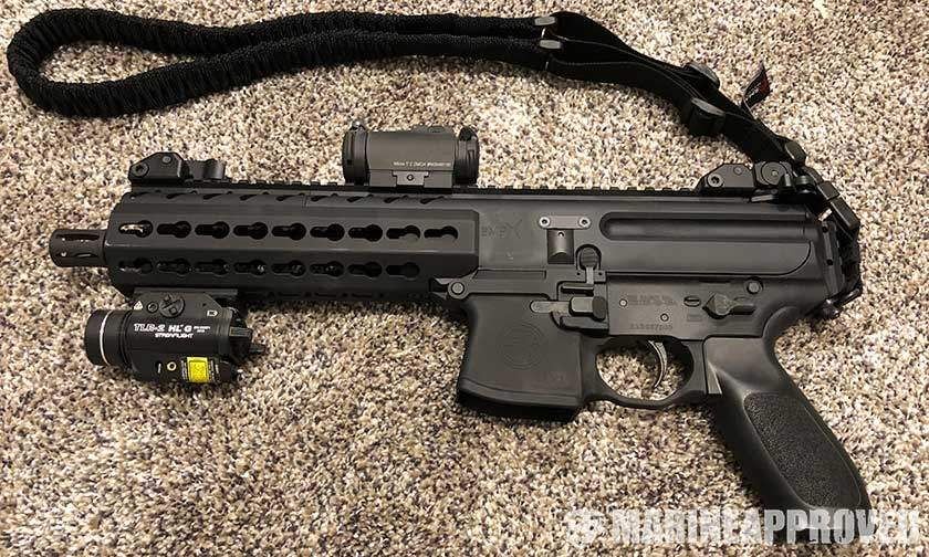Sig MPX with Aimpoint Micro T-2 Red Dot Sight
