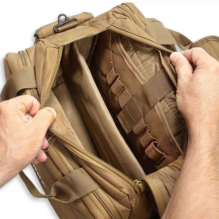 Spacious Interior and dividers of the Orca Tactical Bag
