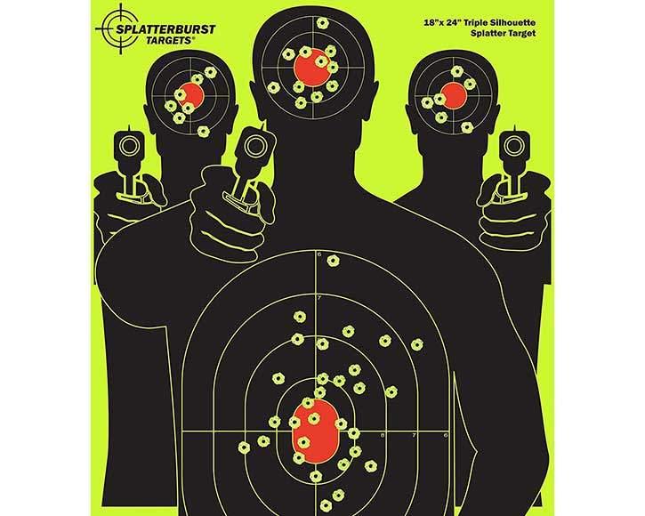 Splatterburst Silhouette BB Gun Target