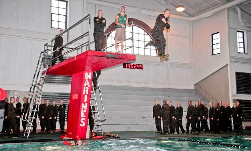 Swim Tower at Boot Camp