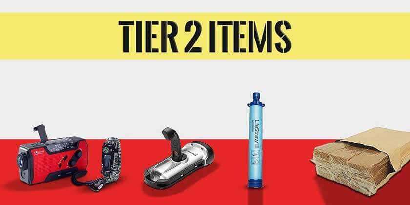 Tier 2 get home bag essentials