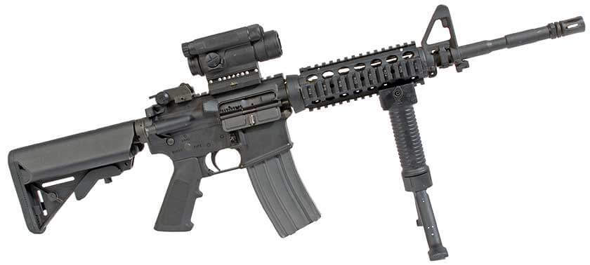 AR-15 with Foregrip Bipod Attachment