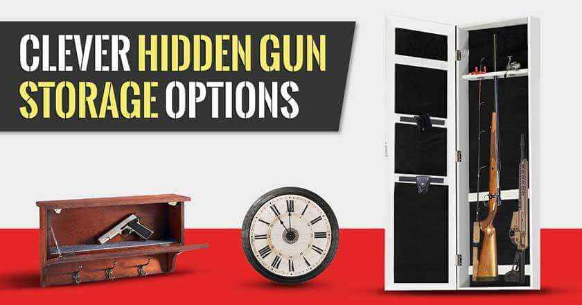 In-Wall Steel Gun Storage Cabinet Hidden Safe Locking Safety Rack Case Pistol