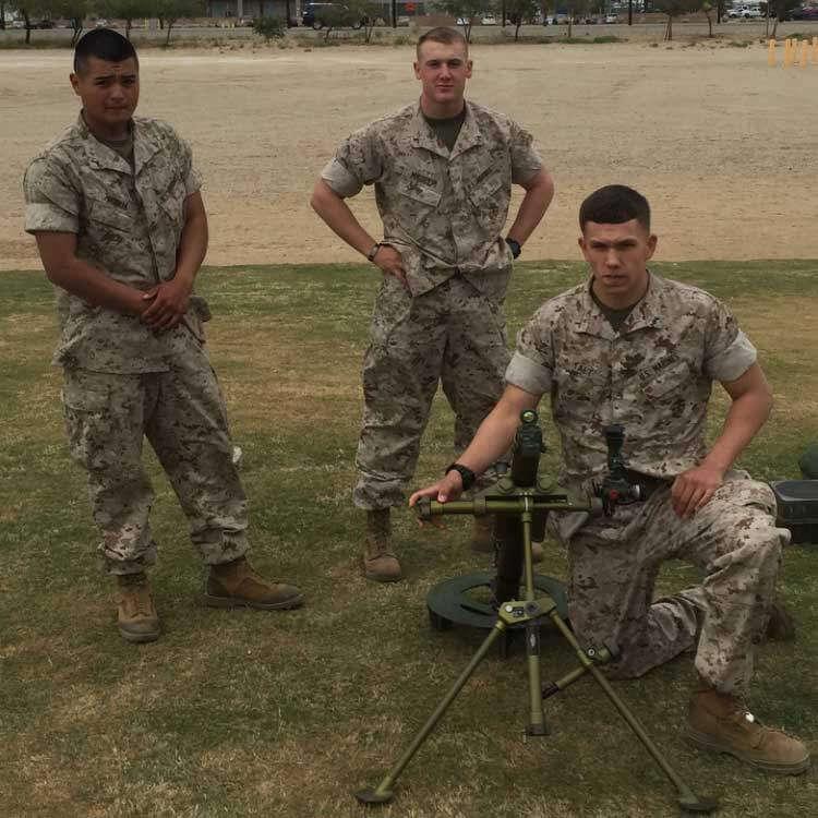 Marine Mortarman Training in 29 Palms