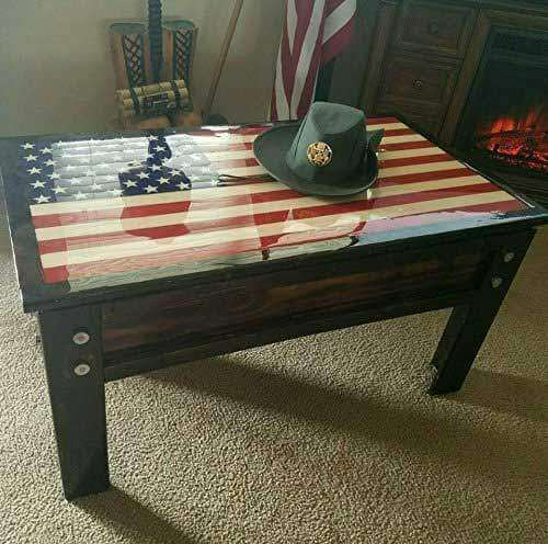 Secret Gun Storage Coffee Table