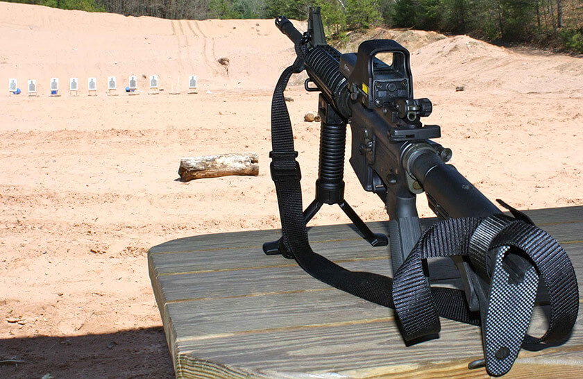 ar 15 with bipod foregrip