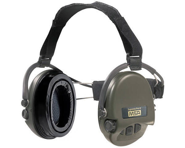 MSA Electronic Earmuffs with Neckband and Ear Seals