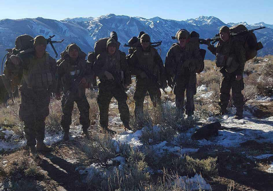 Marines in Mountain Warfare Training
