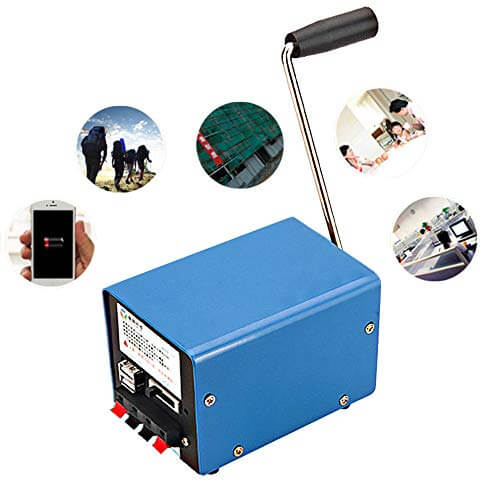 Promotor High Power Portable Manual Crank Generator