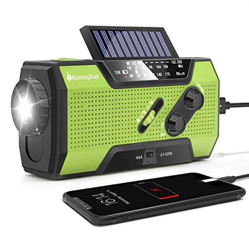 RunningSnail Solar Crank Radio