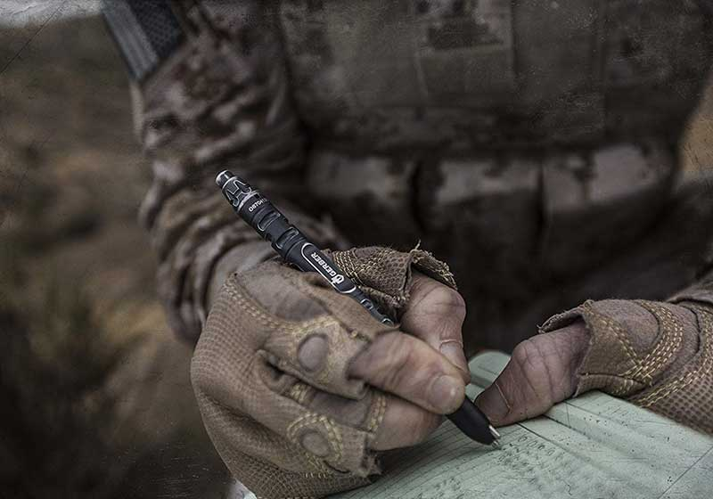 Tactical Pen Being Used by a Marine