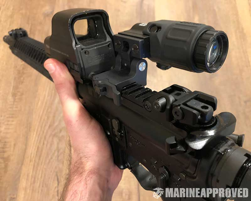 EOTech Magnifier and EOTECH Red Dot Sight Setup