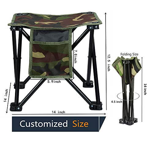 Lucky Cup Folding Stool With Carry Bag