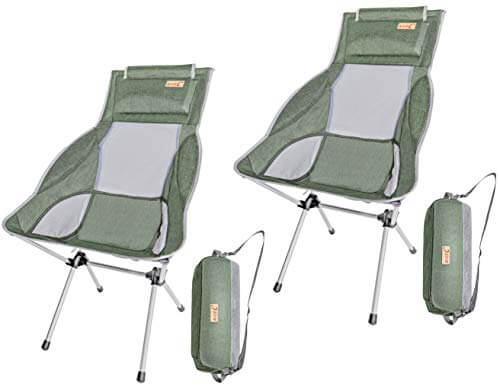 Nice C Ultralight High Back Folding Chair