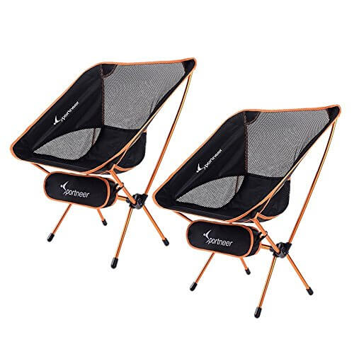 Sportneer Portable Lightweight Folding Camp Chairs