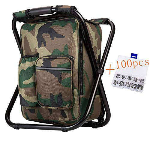 Three-in-One Multifunction Camouflage Backpack Chair