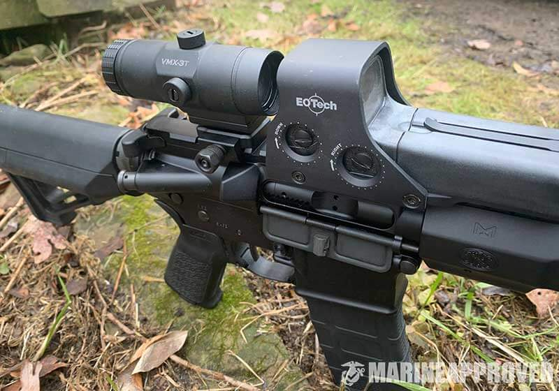 Vortex Magnifier with EOTech Red Dot Sight