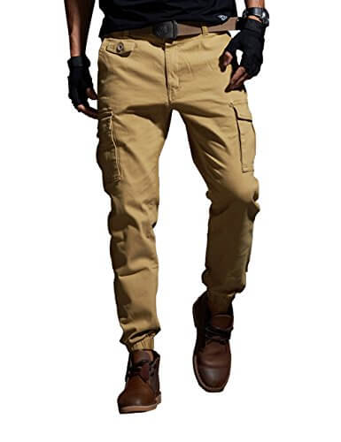 Vomint Men Pants Elastic Foot Tactical Military Cargo Pants
