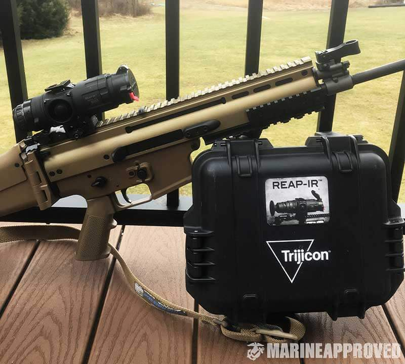 Trijicon REAP-IR Thermal Scope on FN SCAR with Case