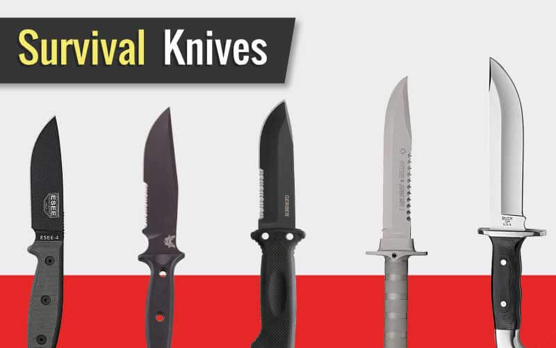 Group of the Best Survival Knives