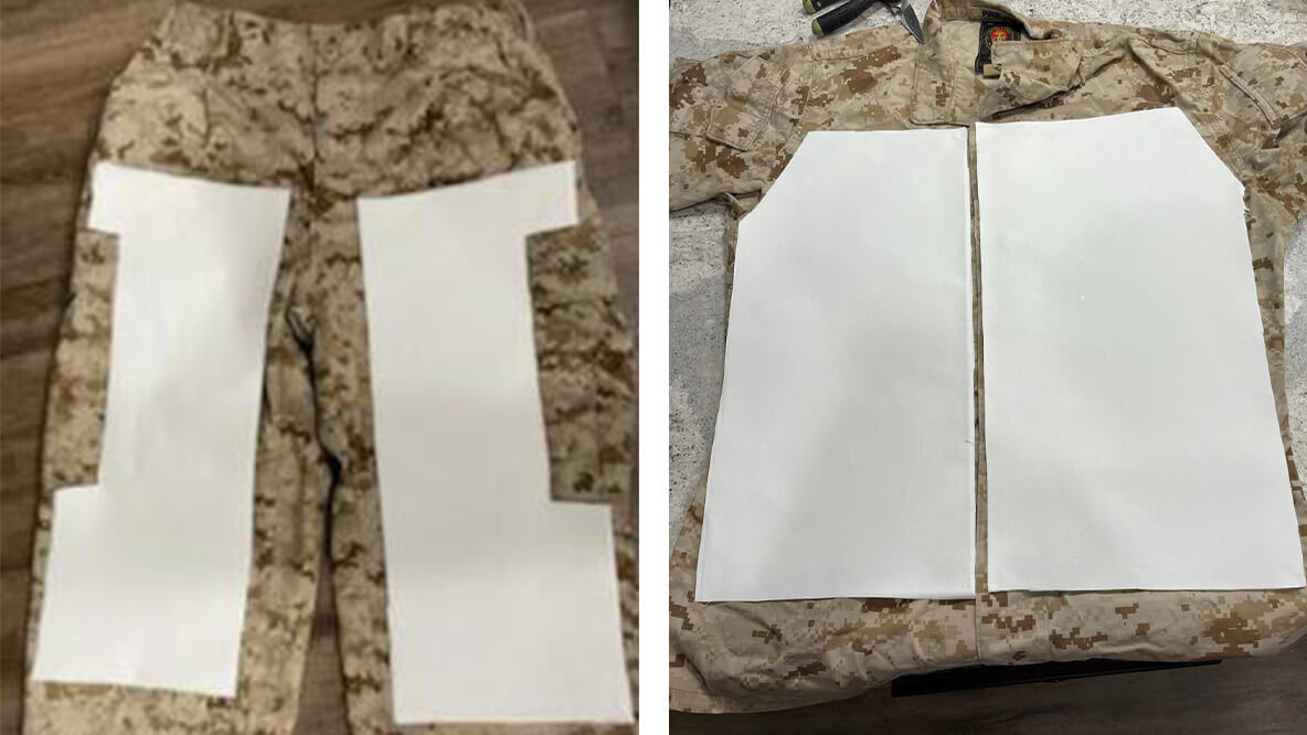 Canvas Cutting Guides for Ghillie Suit