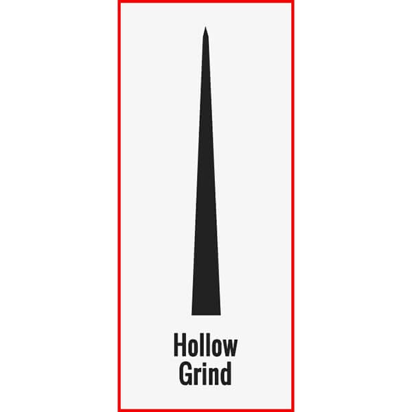 Hollow Grind Example Photo