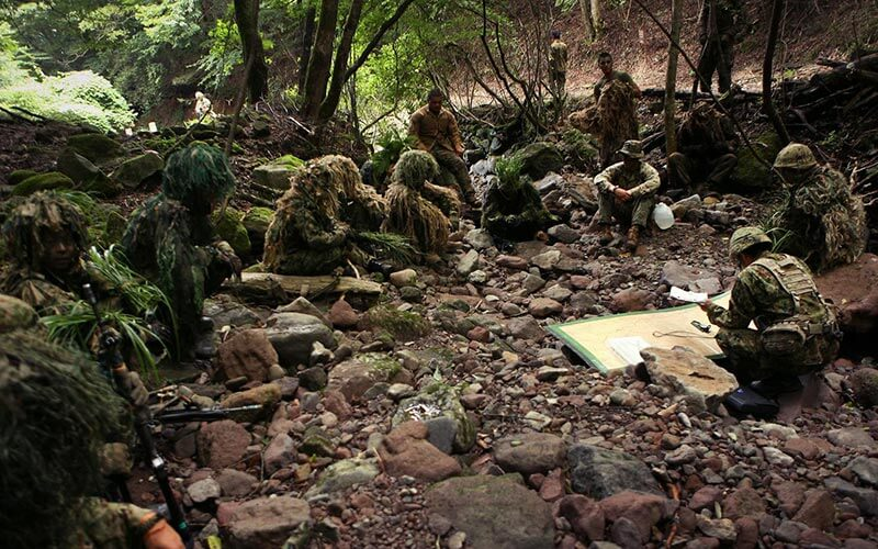 Marine Snipers Learning How to Make Ghillie Suits