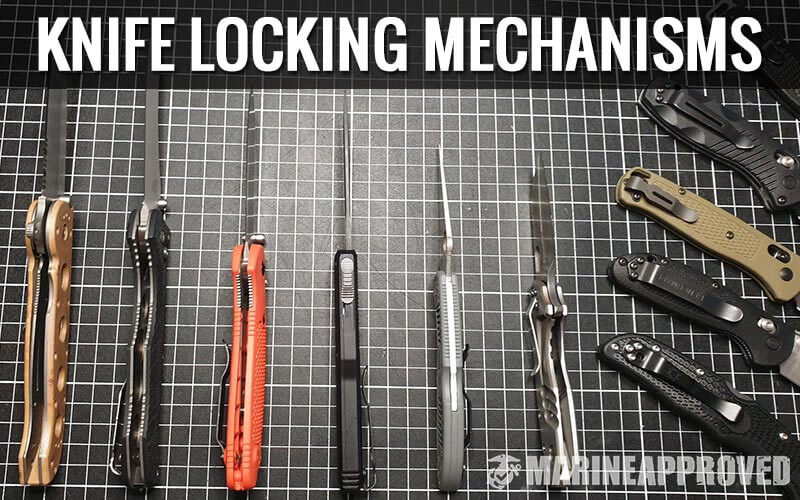 Different Types of Knife Locking Mechanisms (Close Up View)