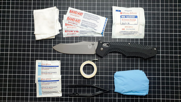 Reverse Tanto Blade with First Aid Gear
