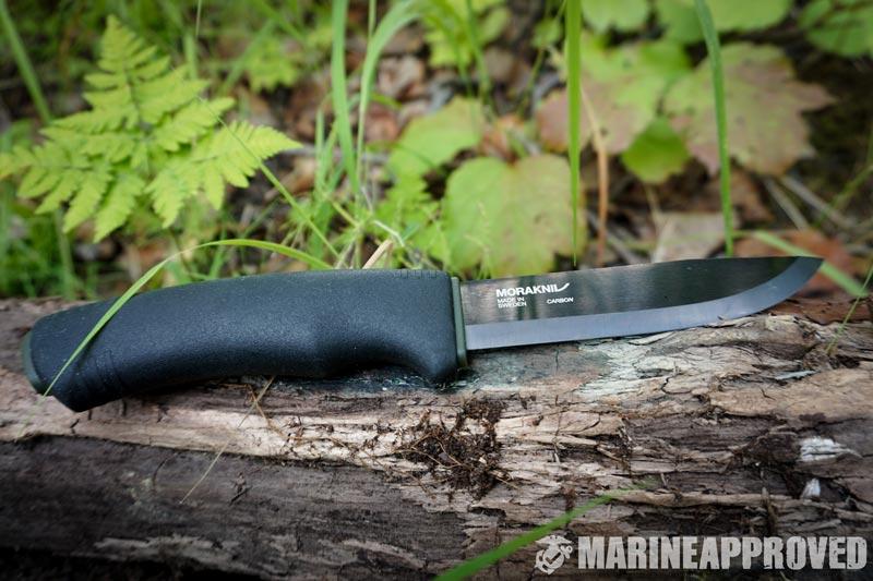 Morkanavi Bushcraft Black Knife