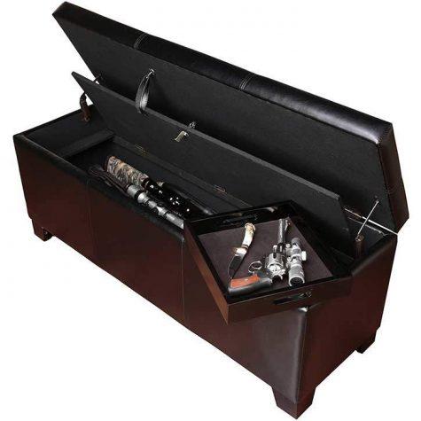 Hidden Gun Storage Bench